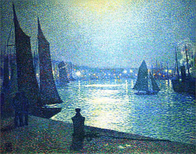 Moonlight Night in Boulogne