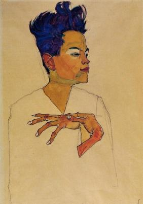 self-portrait-with-hands-on-chest-Egon-Schiele