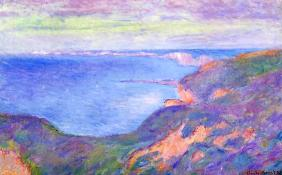 Cliff Near Dieppe completed by Claude Monet in 1897