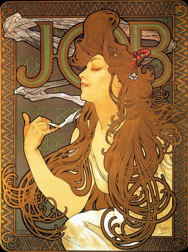 Job completed by Alphonse Mucha in 1896