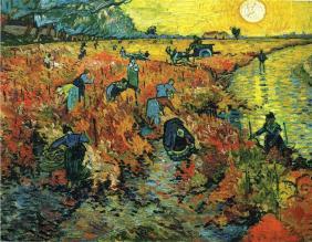 Red Vineyards at Arles completed by Vincent Van Gogh in 1888