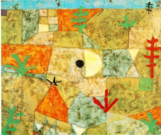 Southern Gardens completed by Paul Klee in 1921