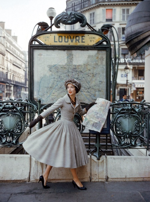 Dior suit photographed by Mark Shaw for LIFE magazine in 1957