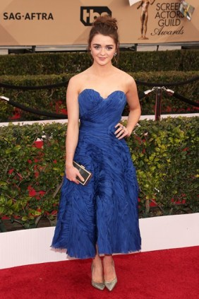 Maisie Williams in an Ermanno Scervino gown