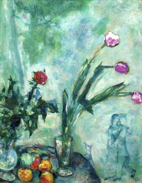 Les Tulipes Mauves by Marc Chagall