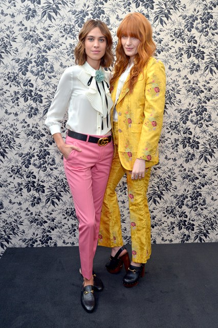 Alexa Chung and Florence Welch in Gucci